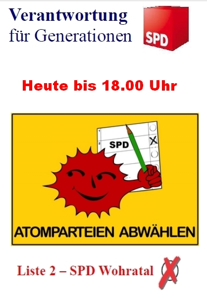 Atomparteien abwählen!