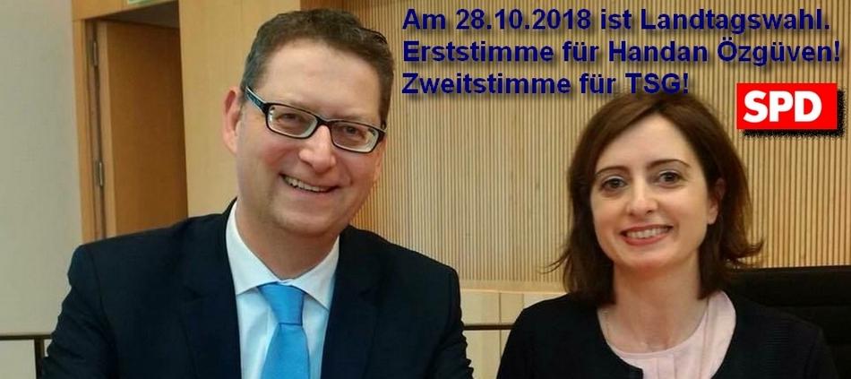Thorsten Schäfer-Gümbel und Handan Özgüven