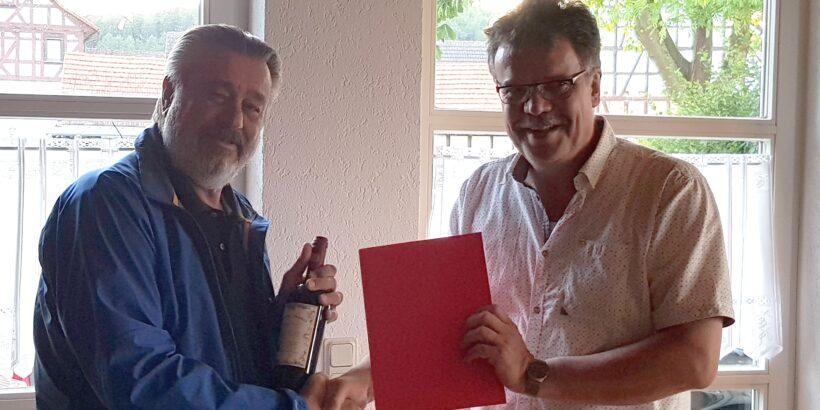 Walter Reuter ist 25 Jahre Mitglied der SPD Wohratal
